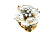 Pearl Petal and Diamond Ring