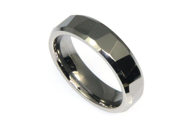 Faceted Tungsten Band