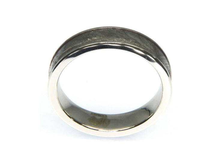 Meteorite Inlay Ring