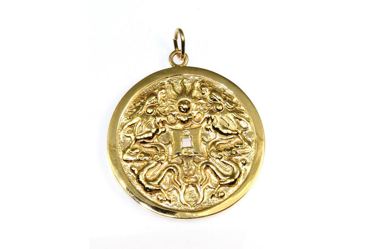 Round Chinese Disc Pendant