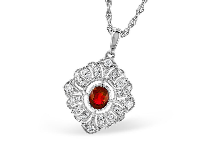 Elegant Ruby and Diamond Necklace