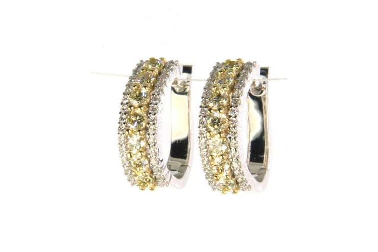Yellow Fire Diamond Earrings