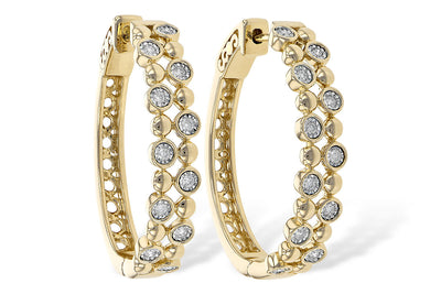 Diamond Bubbles Hoop Earrings