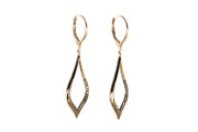 Chocolate Diamond Teardrop Earrings