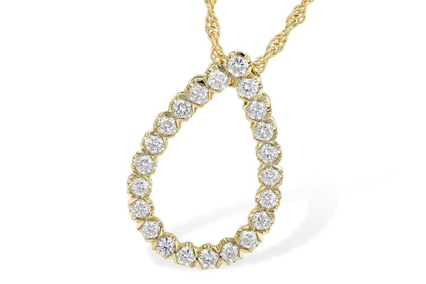 Diamond .50ctw Pear Shape Necklace