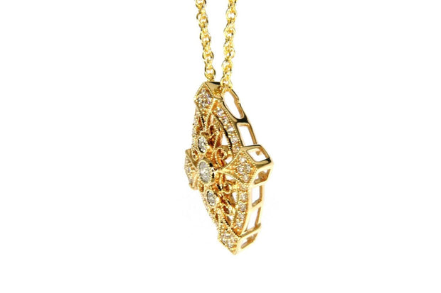 Diamond .20ctw Vintage Inspired Necklace