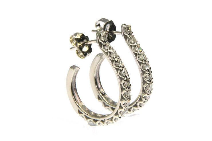 ".56 Carat Diamond ""J"" Hoops"