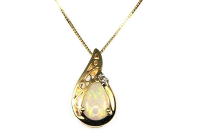 Pear Shape Opal Necklace