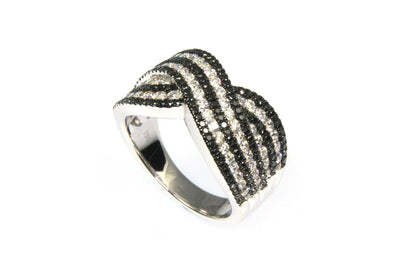 Black and White Diamond Band