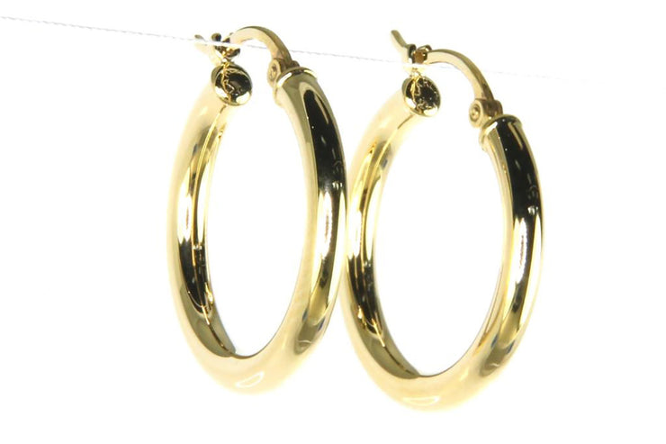 Yellow Gold Classic Hoop Earrings