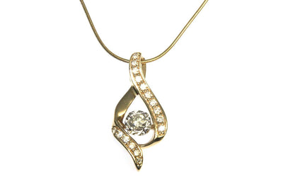 Diamond 3/8ctw Ribbon Necklace