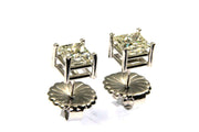 2.02ctw Princess Cut Diamond Stud Earrings