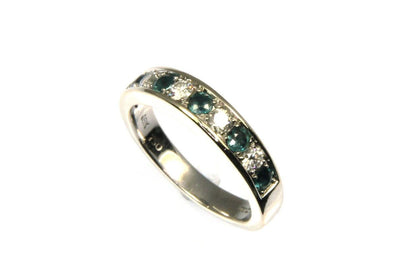 Alexandrite and Diamond Band