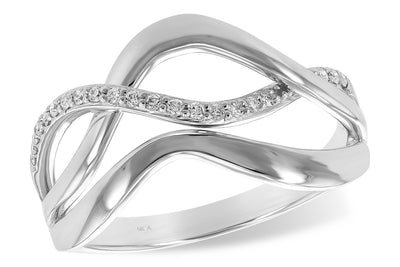 Diamond Curve Ring