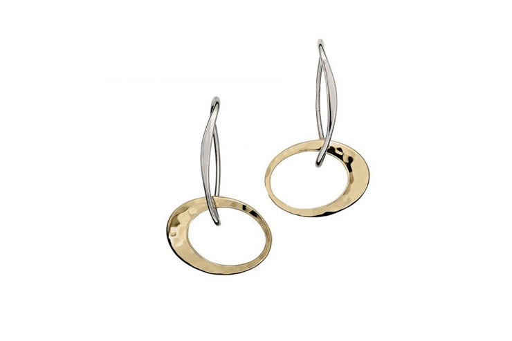 Petite Two-Tone Entwined Elegance Earrings