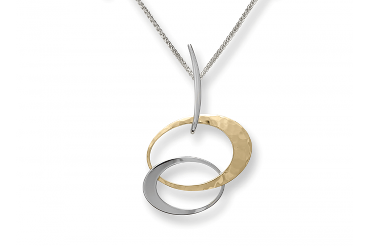 Petite Entwined Elegance Two Tone Necklace