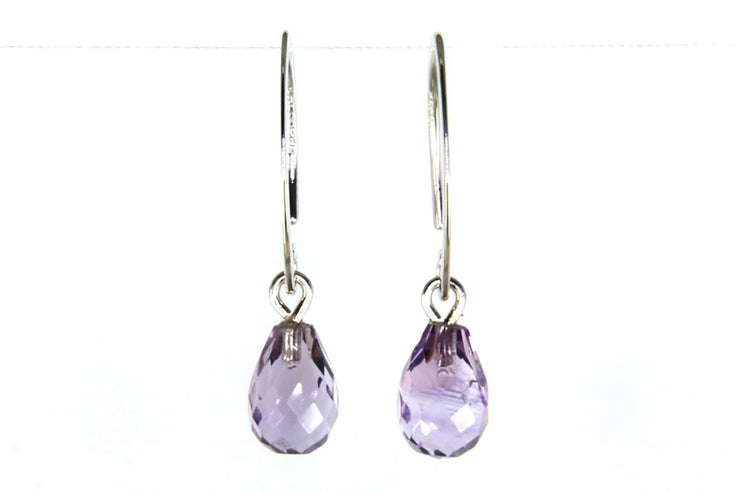 Mini Simple Sweep Amethyst Earrings