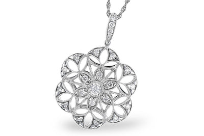 Diamond Star Medallion Necklace