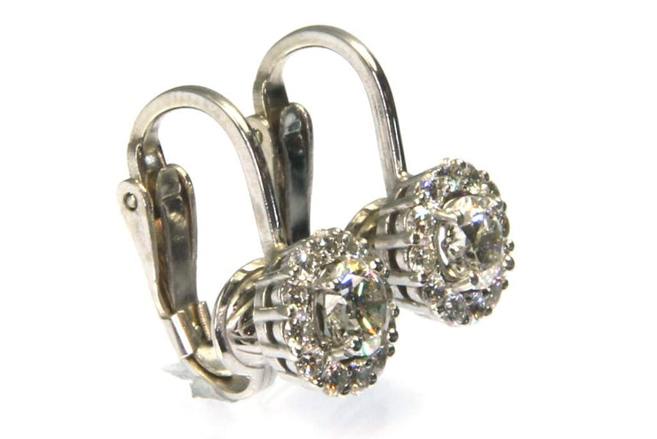 1.25ctw Diamond Halo Clip Earrings