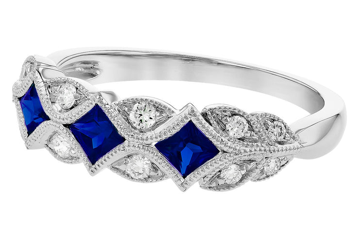 Blue Sapphire Detailed Band