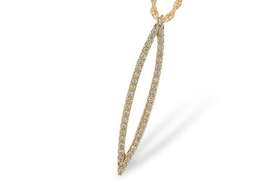 Diamond Marquise Shape Necklace