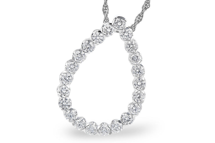 Diamond 1.00ctw Pear Shape Necklace