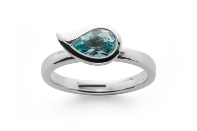 Paisley Sky Blue Ring