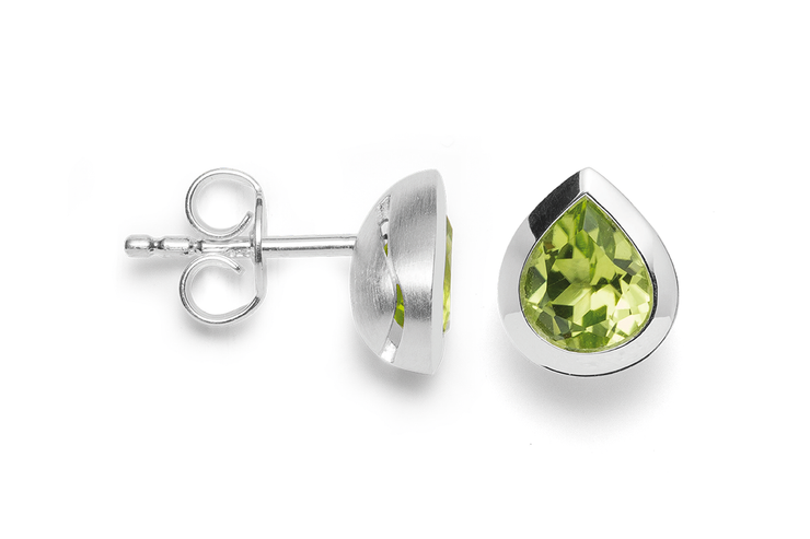 Peridot Gum Drop Earrings