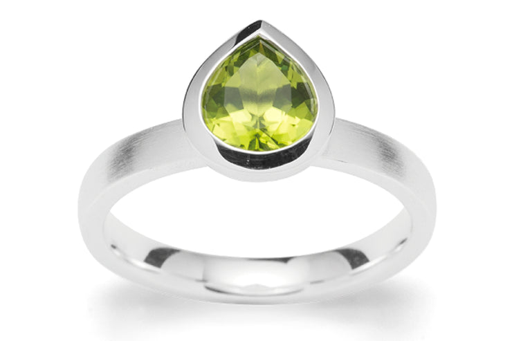 Peridot Gum Drop Ring