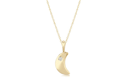 Petite Diamond Moon Necklace