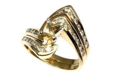 Diamond Bypass Ring Setting