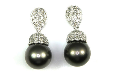 11mm Tahitian Pearl Earrings