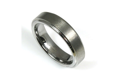 Tungsten Brushed with Edge Band
