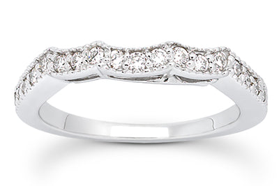 .26ctw Diamond Curved Band