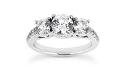.70ctw Diamond Three Stone Engagement Ring Setting