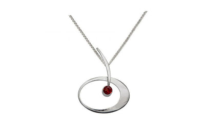 Garnet Elliptical Elegance Necklace