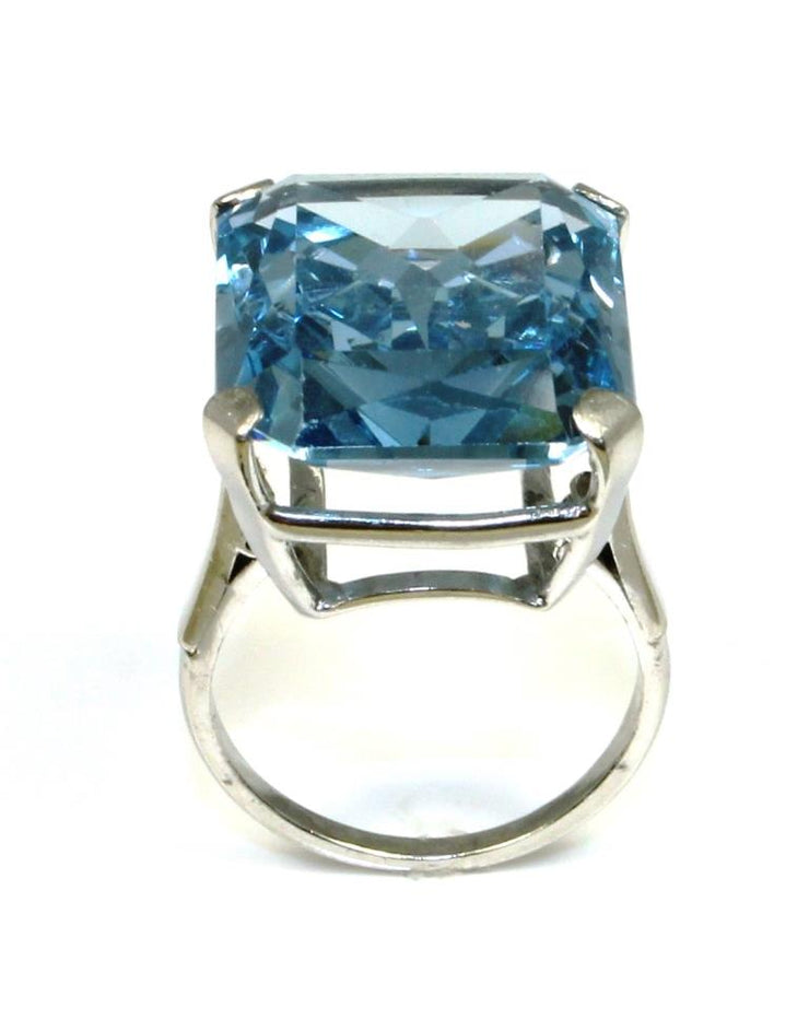 Blue Gem Solitaire Ring
