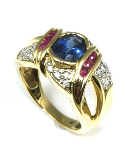 Sapphire, Ruby, and Diamond Band