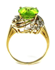 Oval Peridot and Diamond Ring, 5810