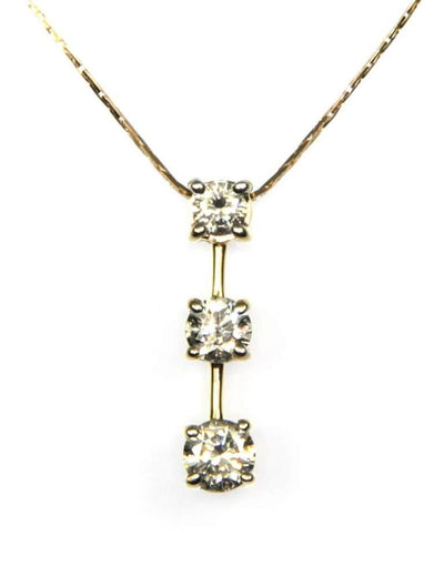 .75ctw Three Diamond Necklace