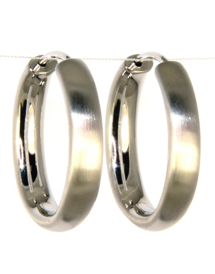 Satin Oval Hoop Earrings