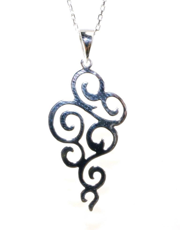 Swirl Drop Necklace, 5904