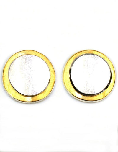 Two-Tone Disc Earrings, 5918