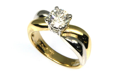 1.09ct Round Diamond Solitaire Ring