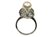 Pearl and Diamond Vintage Ring