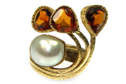 Pearl and Citrine Fashion Ring