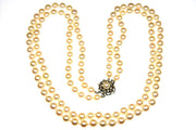 7.5-8.0mm Cultured Akoya Pearl Double Strand
