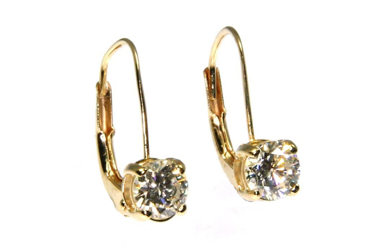Diamond 3/4ctw Drop Earrings