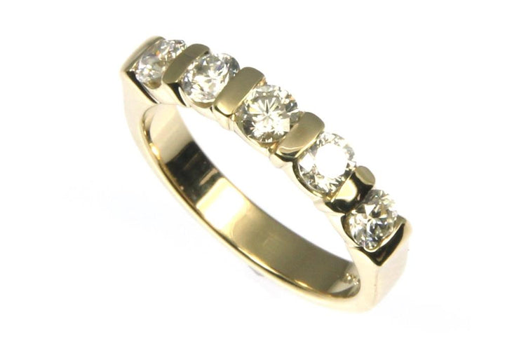 1ctw Five Diamond Band