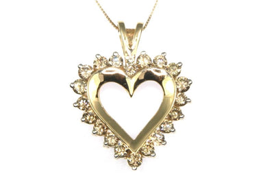 2ctw Diamond Heart Necklace